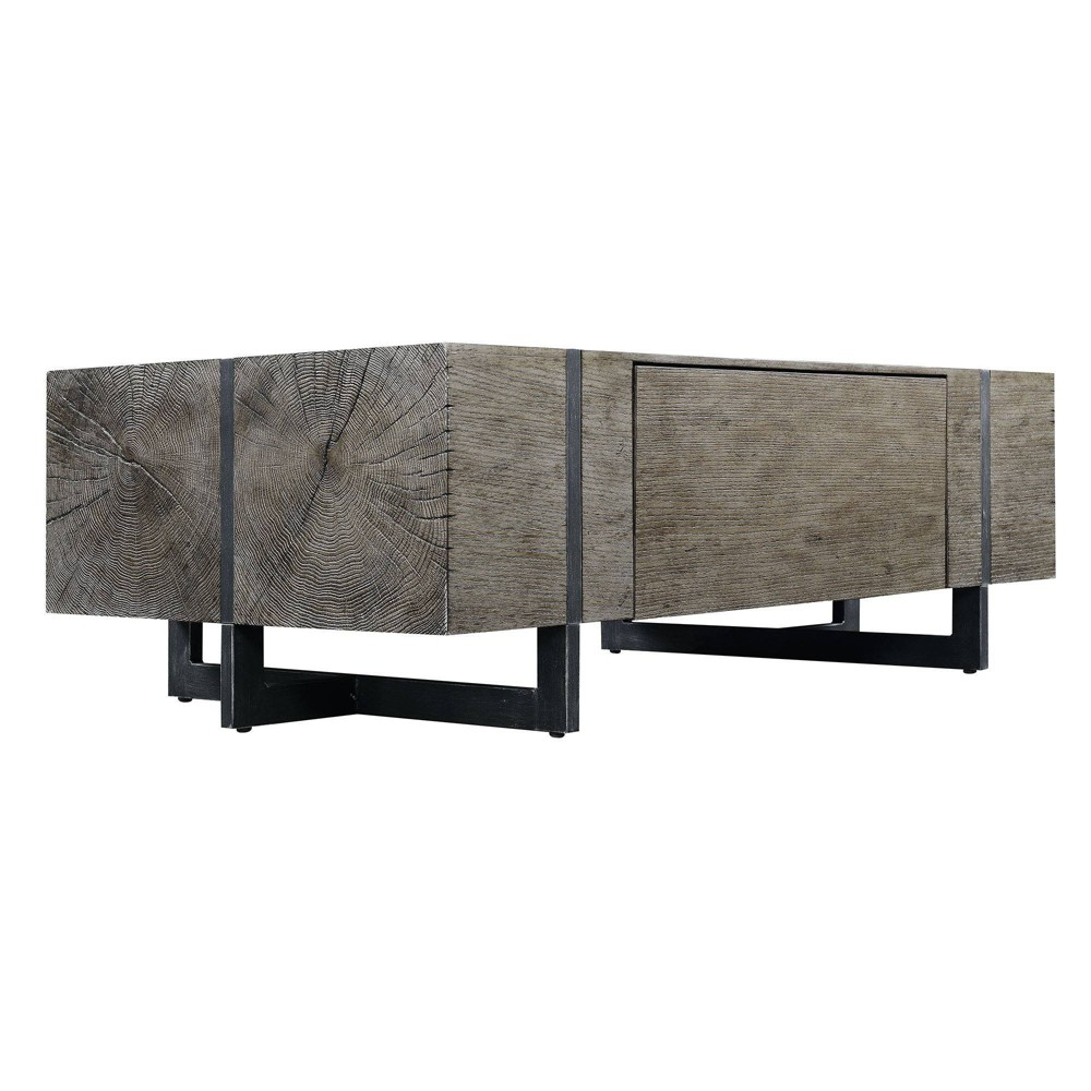Laguna Rectangle Coffee Table With Storage Distressed Gray Picket House Furnishings