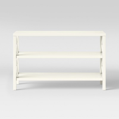 Owings Console Table with 2 Shelves- Off White - Threshold™