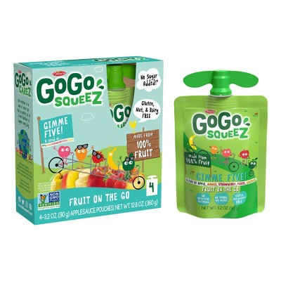 Gogo Squeez Applesauce On The Go Mixed Fruits Pouches 4ct - 3.2oz