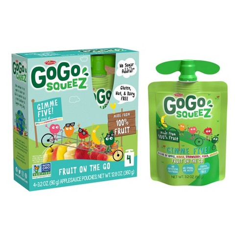 Gogo Squeez Applesauce On The Go Mixed Fruits Pouches 4ct - 3.2oz - image 1 of 4