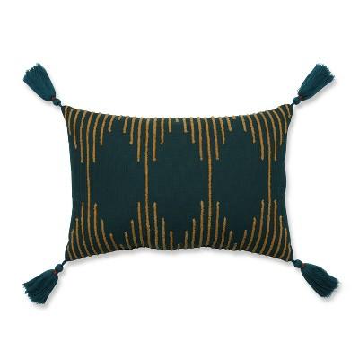 Linear Geo Throw Pillow Teal - Pillow Perfect
