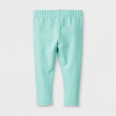 Baby Girls' Stretch Jersey Bow Back Leggings Pants - Cat & Jack™ Green 3-6M