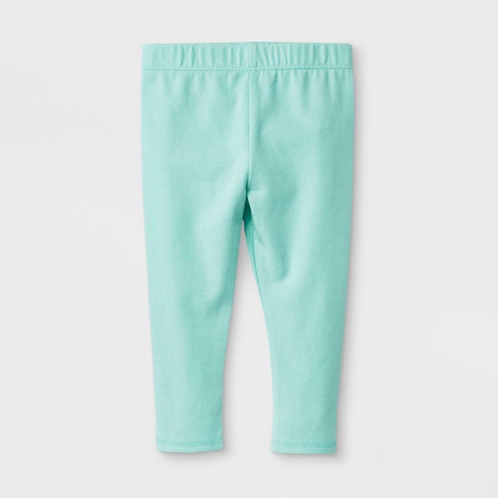 Baby Girls' Stretch Jersey Bow Back Leggings Pants - Cat & Jack Green 3-6M