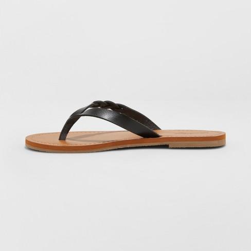1cc79ab10aca Women s Bobbie Braided Thong Flip Flop Sandals - Universal Thread ...