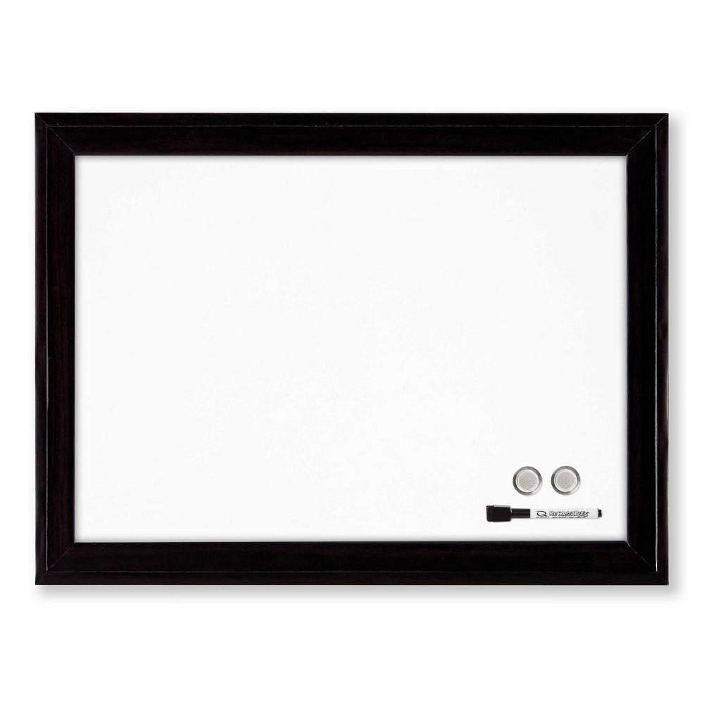 """Image of """"Quartet 17"""""""" x 23"""""""" Home Décor Magnetic Dry-Erase Board Black Frame"""""""