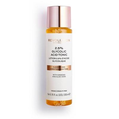 Makeup Revolution Skincare 2.5% Glycolic Acid Toner - 6.76 fl oz