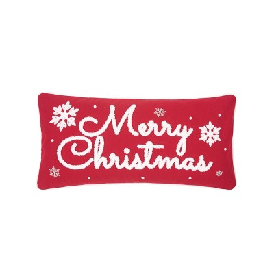 """C&F Home 12"""" x 24"""" Red & White Christmas Pillow"""