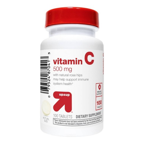 Vitamin C 500mg with Rose Dietary Supplement Tablets - 100ct - up & up™ - image 1 of 3