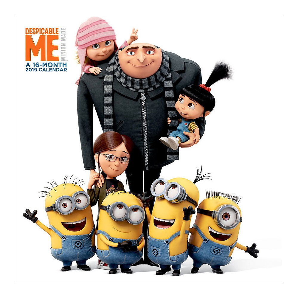 2019 Wall Calendar Despicable Me - Trends International, Multi-Colored
