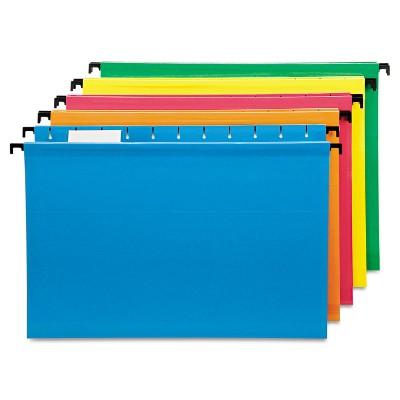 Pendaflex Poly Laminate Hanging Folders 1/5 Tab Legal Assorted 20/Box 615315ASST