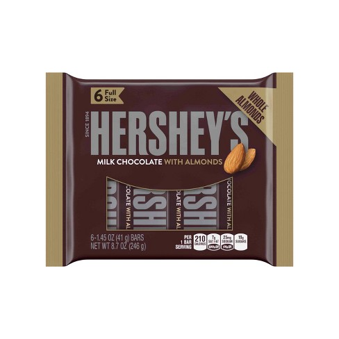 HERSHEY'S Milk Chocolate with Almonds Bars - 6ct - image 1 of 4