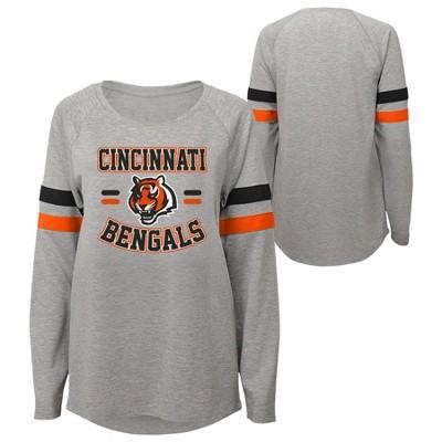 NFL Cincinnati Bengals Girls' Long Sleeve Fashion T-Shirt