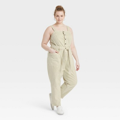 Women's Tie-Front Denim Overalls - Universal Thread™