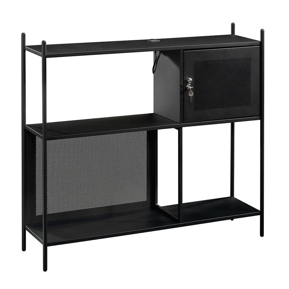 Image of Boulevard Cafe Decorative Storage Cabinet Black - Sauder
