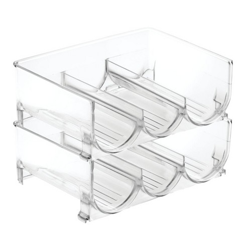 mDesign Plastic Water Bottle Storage Organizer, 2 Pack - Clear - image 1 of 4