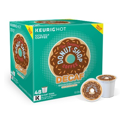 The Original Donut Shop Decaf Medium Roast Coffee - Decaf - Keurig K-Cup Pods - 48ct
