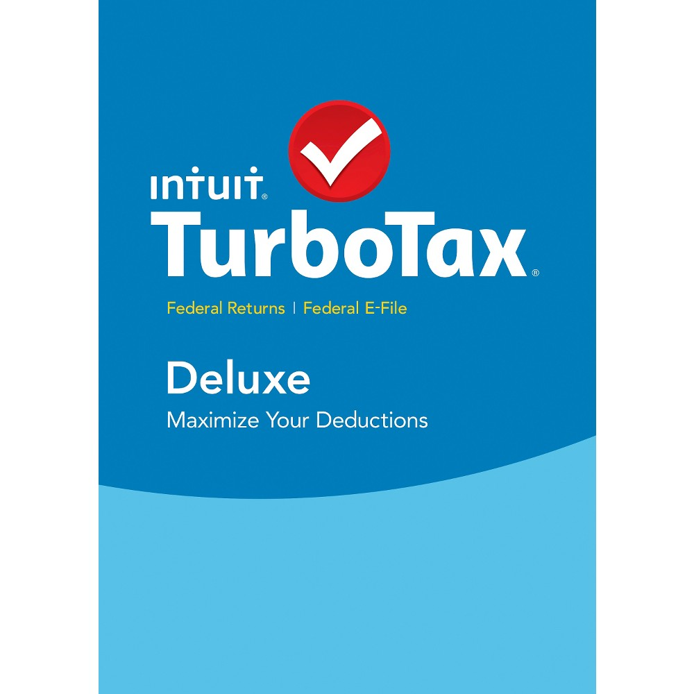 2015 Intuit TurboTax Deluxe Federal ONLY E-File BRAND NEW FACTORY SEALED!!!