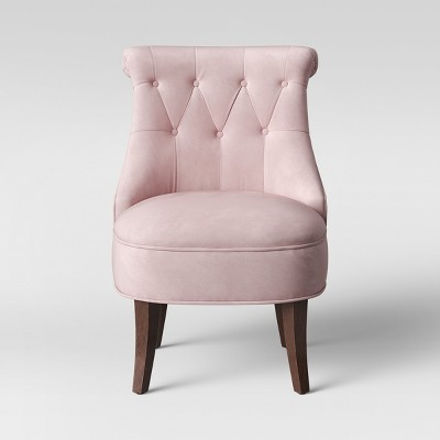 Nerine Tufted Rollback Accent Chair Velvet Light Purple - Assembly Required - Opalhouse™