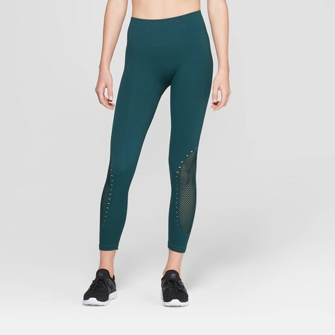 dcf91d2be4f Women s Seamless High-Waisted 3 4 Laser Cut Leggings - JoyLab™   Target
