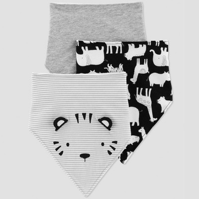 Baby Boys' 3pk Tiger Bib - Just One You® made by carter's Gray