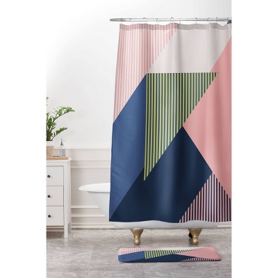 Mareike Boehmer Color Block Shower Curtain Pink - Deny Designs