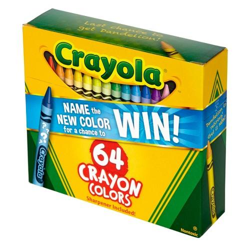 crayola crayons with sharpener 64ct target