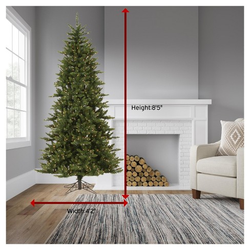 7 5ft Pre Lit Led Artificial Christmas Tree Full Le Spruce Instant White Lights Target