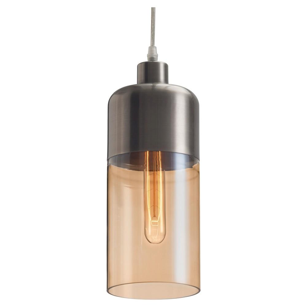 Retro Blown Glass 13 Ceiling Lamp - Amber/Bronze Satin - ZM Home