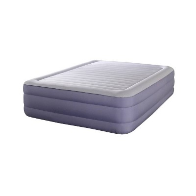 """Simmons Beautyrest Fusion Aire 18"""" Queen Pillow Top Air Mattress with Built in Pump - Purple"""