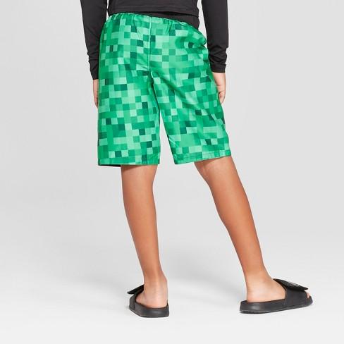 fc8eee57dfeb1 Boys' Minecraft Swim Trunks - Green : Target