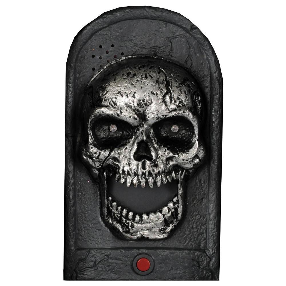 Image of Halloween Door Bell Skull Light-Up