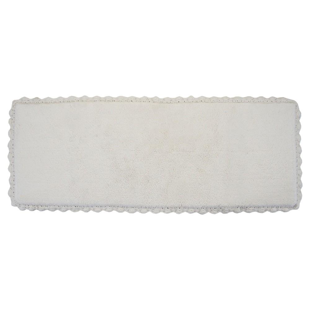 "Image of ""Crochet Bath Rug Runner Ivory (22""""X60"""") - Chesapeake Merch Inc."""