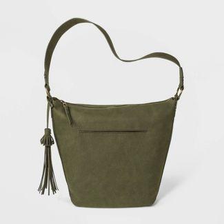 Hobo Handbag With Fringe - Universal Thread™ Olive