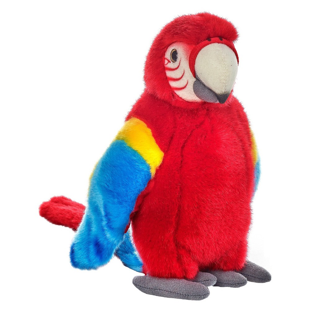 Lelly National Geographic Tropical Parrot Plush Toy - Red