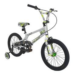 """Dynacraft Camo Decoy 18"""" Kid's Bike - Silver/Green, Boy's"""