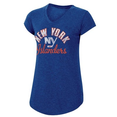 NHL New York Islanders Women's Team Pride V-Neck T-Shirt - L