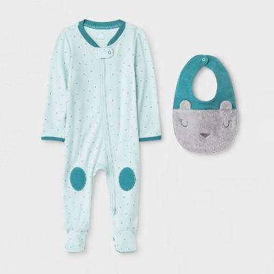 Baby Boys' Boutique Zip Sleep N' Play & Bib Set - Cloud Island™ 0-3M