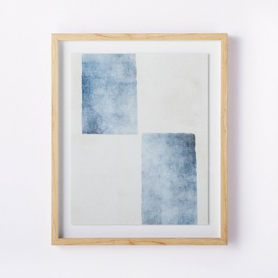 "20"" x 24"" Framed Wall Art Blue/White - Threshold™ designed with Studio McGee"