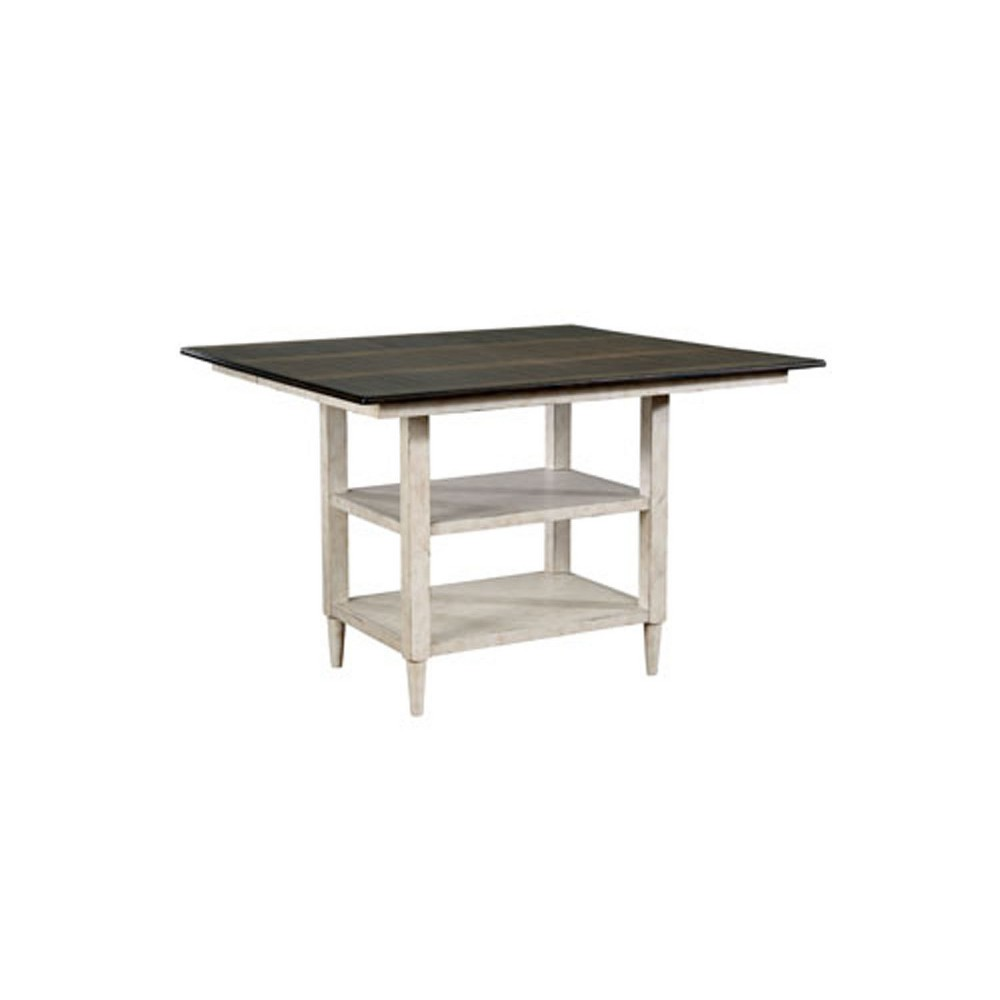 Byrd Square Wood Counter Height Dining Table Antique White - Sun & Pine