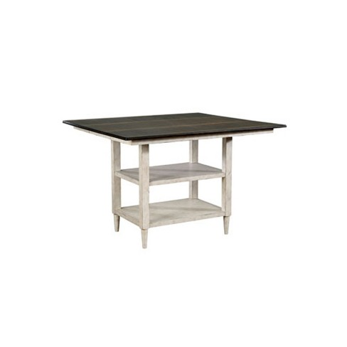 Byrd Square Wood Counter Height Dining Table Antique White - Sun & Pine - image 1 of 4