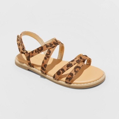 Toddler Girls' Maybn Ankle Strap Sandals - Cat & Jack™ Brown 5