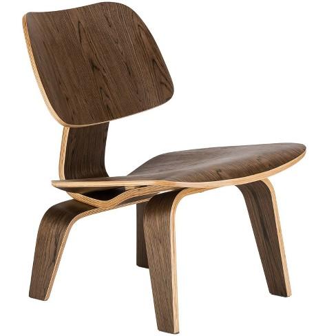 Helena Mid Century Lounge Chair Walnut - Edgemod - image 1 of 4