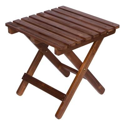 Adirondack Square Folding Table - Oak - Shine Company Inc.