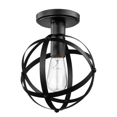 1 Light Tatum Flush Mount Ceiling Dark Bronze - Globe Electric