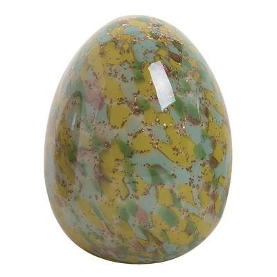 Transpac Glass 6 in. Multicolor Easter Confetti Egg Decor