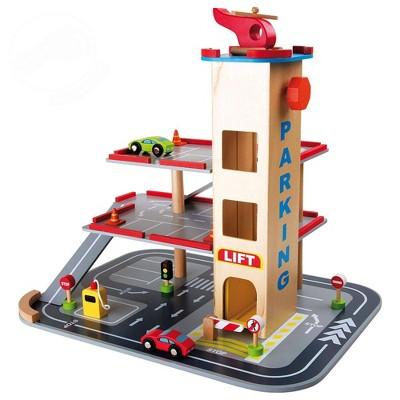Small Foot Wooden Toys 3 Floor Parking Garage Playset