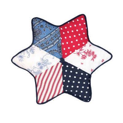 Gallerie II Star Shaped Patriotic Pillow Decorative Throw Pillow 4th of July