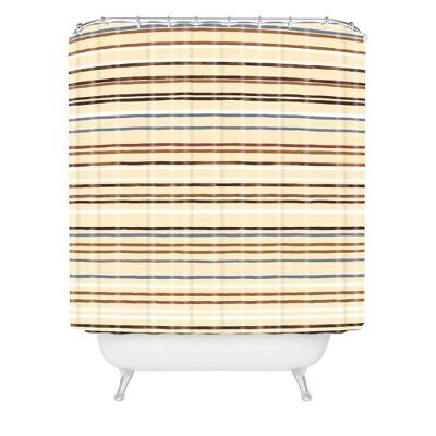 Ninola Design Western Striped Shower Curtain Brown - Deny Designs