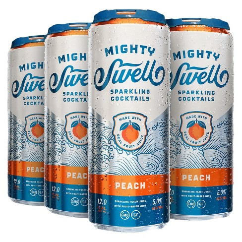 Mighty Swell® Sparkling Peach - 6pk / 12oz Cans - image 1 of 1
