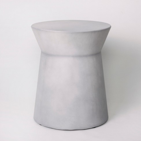 Faux Concrete Indoor Outdoor Accent Table Gray Project 62